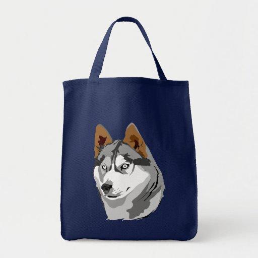 Husky 2 tote grocery tote bag
