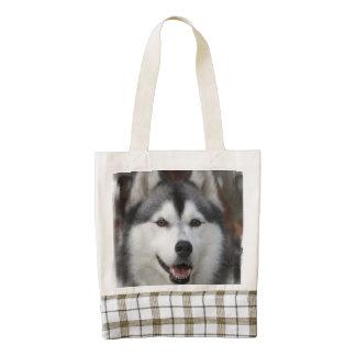 husky-6 zazzle HEART tote bag