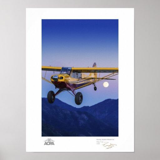 Husky Alpine Moonrise Gallery Posters
