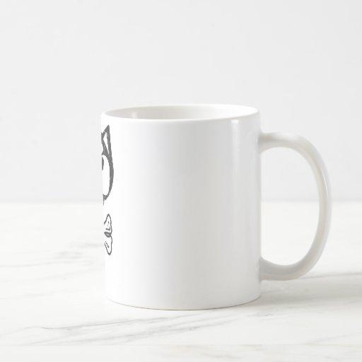 Husky and bones classic white coffee mug