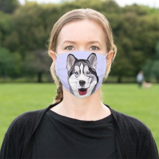 Husky and his Smile Cloth Face Mask