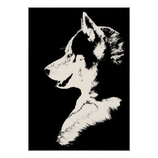 Husky Art Print Sled Dog Art Poster Malamute Gifts