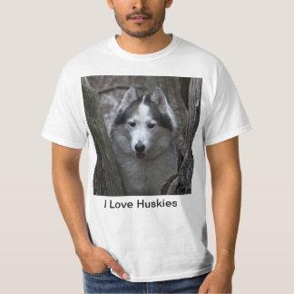 Husky between trees T-Shirt