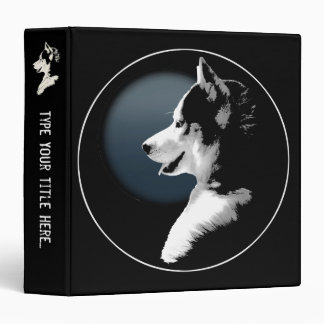 Husky Binder Custom Husky Pup Photo Album Binder