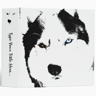 Husky Binder Personalized Sled Dog School Supplies