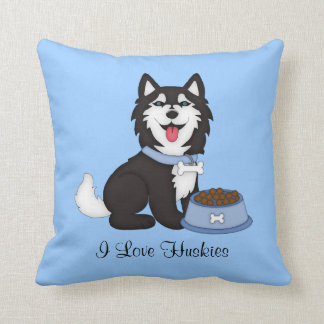 Husky (Boy) Throw Pillow