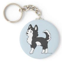 Husky Buddy Keychain