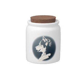 Husky Candy Jar Custom Sled Dog Cookie Jar