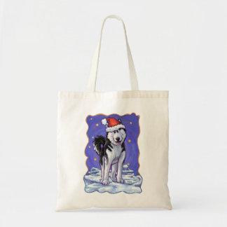 Husky Christmas Budget Tote Bag
