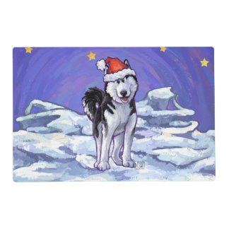Husky Christmas Placemat
