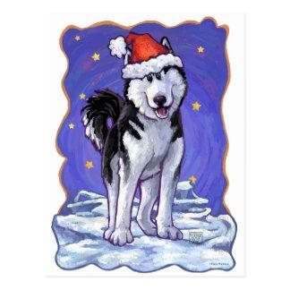 Husky Christmas Postcard