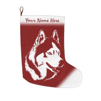 Husky Christmas Stocking Personalized Dog Stocking Large Christmas Stocking