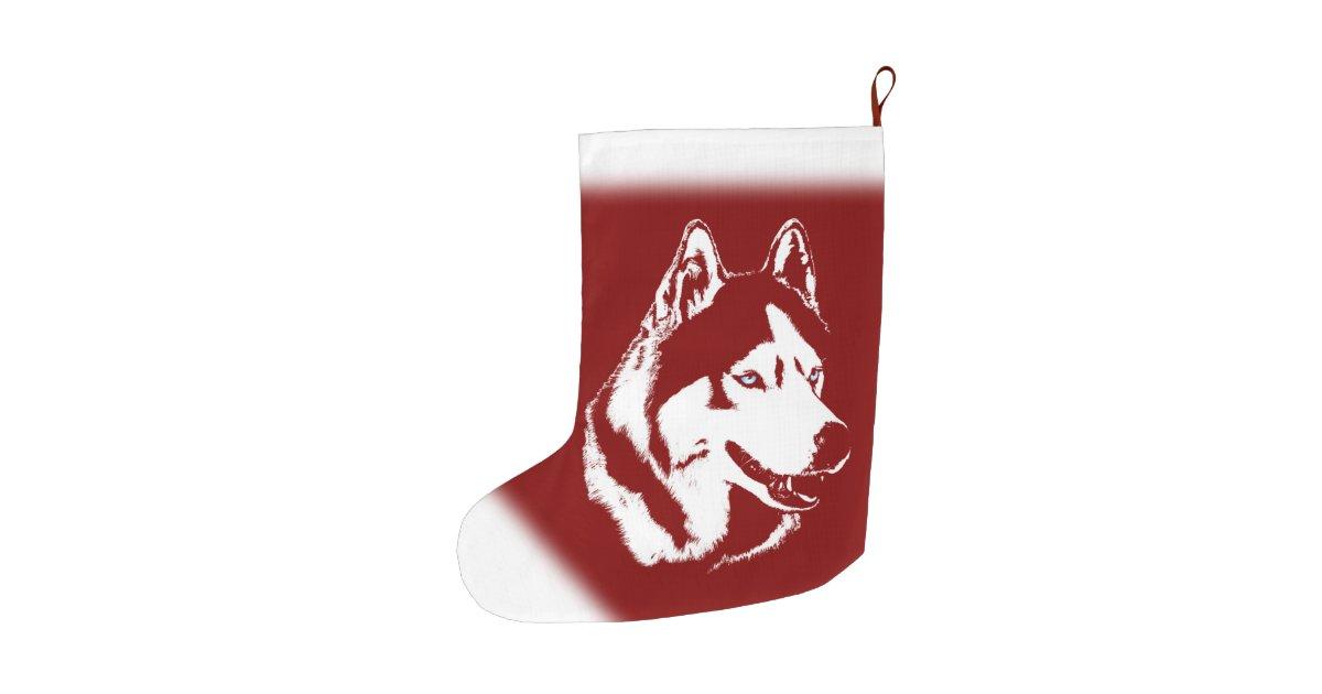 Husky christmas stocking personalized dog stocking large for Personalized dog christmas stocking