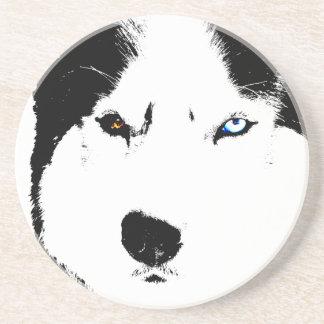 Husky Coaster Bi-eye Husky Malamute Coaster
