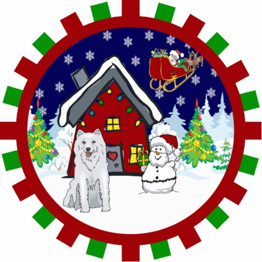 husky cute country cottage ornament