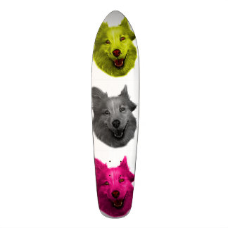 husky dog art 5060 Wb Skateboard
