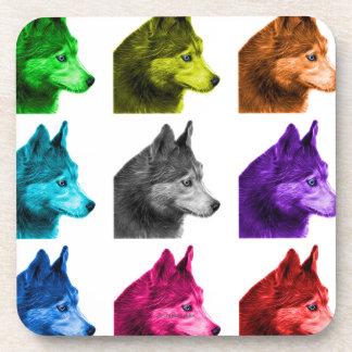 Husky dog art 6048 WB Coaster