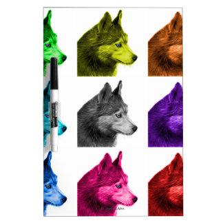 Husky dog art 6048 WB Dry Erase Board
