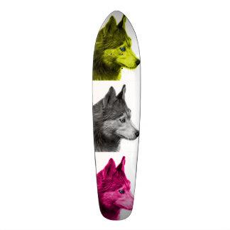 Husky dog art 6048 WB Skateboard