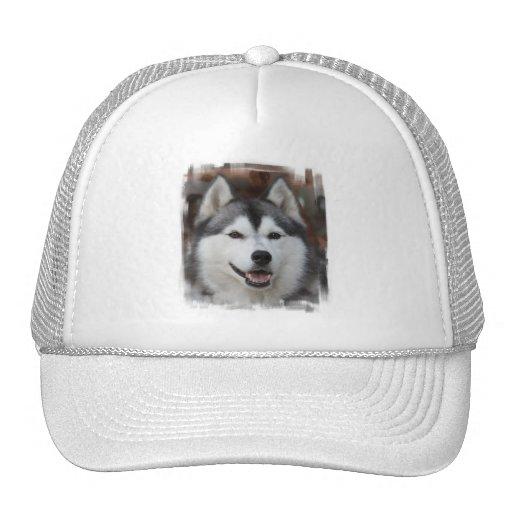 Husky Dog Baseball Cap Trucker Hat