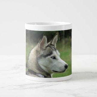 Husky dog beautiful photo portrait, gift large coffee mug