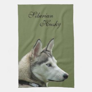 Husky dog beautiful photo potrait, gift hand towel