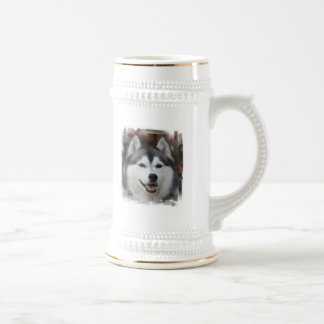 Husky Dog Beer Stein