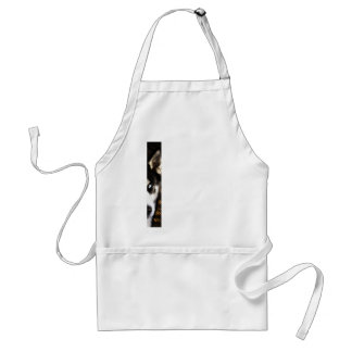 Husky Dog Blue Eye Border Adult Apron
