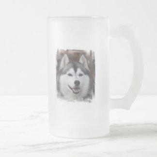 Husky Dog Frosted Beer Mug