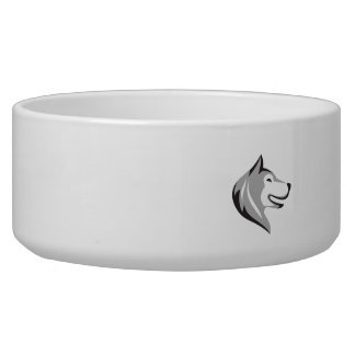 Husky Dog Head Retro Bowl