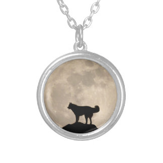 Husky Dog Necklace Malamute Husky Moon Necklace