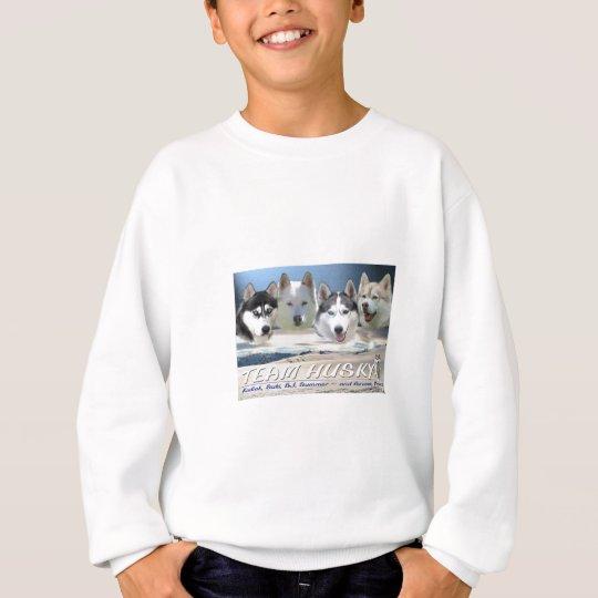 husky dog sleding sweatshirt
