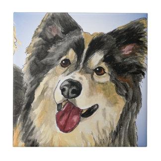 Husky Dog Small Square Tile