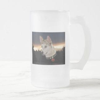 Husky Dog Sunset Mugs
