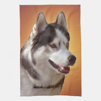 Husky Dog Towel Husky Malamute Tea Towel
