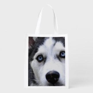 Husky Dog Reusable Grocery Bag