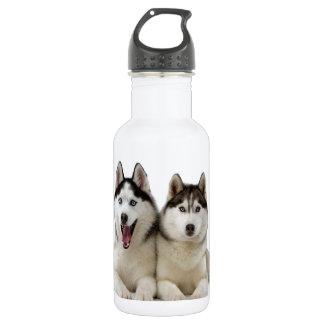 Husky Dogs 18oz Water Bottle