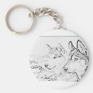 Husky dogs key chains