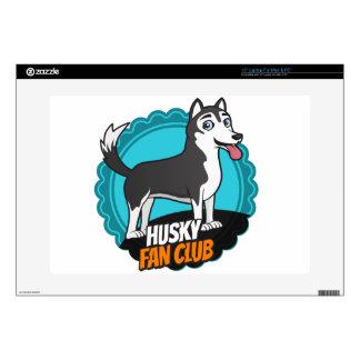 Husky Fan Club Laptop Decals