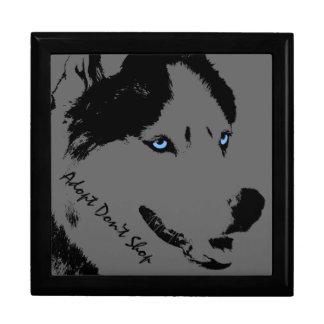 Husky Gift Box Custom Sled Dog Husky Jewelry Box