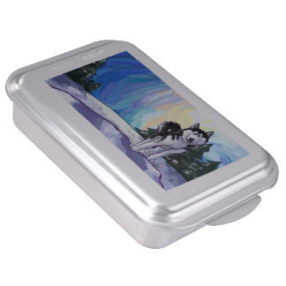 Cake Accessories Gifts : Siberian Husky Cake Pans Zazzle