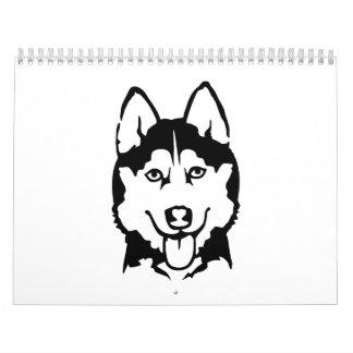 Husky head calendars