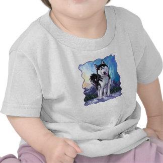 Husky Heads and Tails Tee Shirt