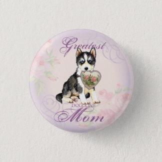 Husky Heart Mom Button