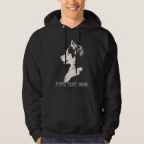Husky Hoodie Personalized Wolf Hooded Sweatshirt