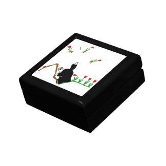 Husky in Flowerbed Gift Box