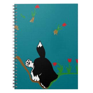 Husky in Flowerbed Spiral Notebook