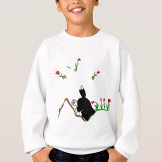Husky in Flowerbed Sweatshirt