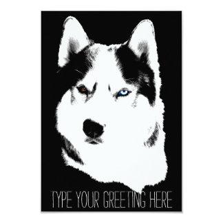 Husky Invitations Personalized Siberian Husky Card
