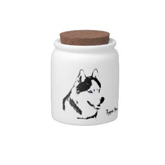 Husky Jar Siberian Husky Candy Jar Personalized